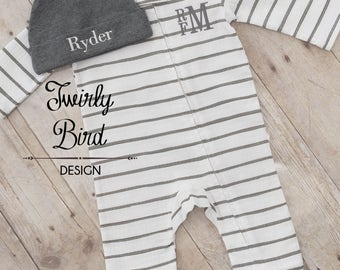 Newborn Boy Outfit - Newborn Baby Boy - Coming Home Outfit Boy- Take Home Outfit Newborn Boy- Baby Shower Gift - Newborn Boy- Baby Boy