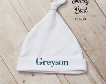 Newborn Hat, Personalized Baby Hat