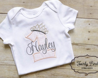 1st birthday outfit, Girl's First Birthday Outfit, Baby Girl 1st Birthday Outfit, 1st Birthday Girl Outfit, 1st Birthday Shirt, Princess