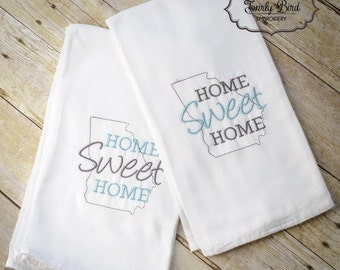 Home Sweet Home - State Towel - Kitchen Towel - Home Sweet Home Kitchen Towel - Georgia Towel