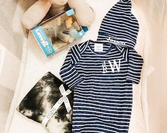 Baby Boy Gown,  Newborn Boy Gown