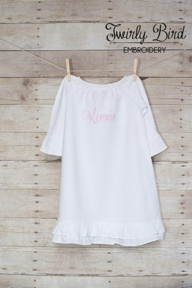 5205a7a9f920f Baby Girl Dress - Baby Girl Gown - Personalized Baby Dress - Monogrammed  Baby Dress - Monogrammed Ruffle Dress - Girly Girls
