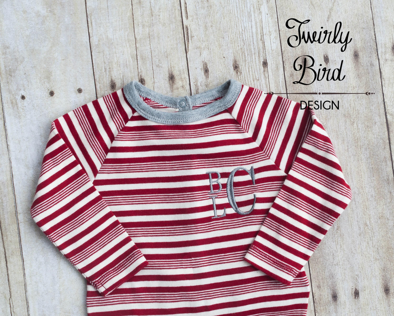 b477f53613 Newborn Christmas Outfit - Newborn Christmas Pajamas  PJ s - Baby ...