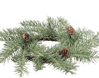 """Douglas Frost Pine Candle Ring, 4.5"""" Opening"""