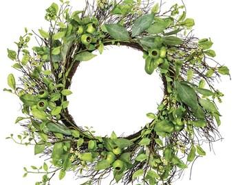 "Leaf Crabapple Wreath 26"""