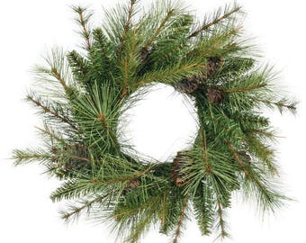 """Mixed Pine Candle Ring, 4.5"""" Opening"""