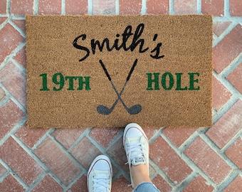 Delicieux Fatheru0027s Day Gift / Golf Doormat / Sports Door Mat / Spring Doormat / Golf  Decor / Golf Gift Women / Front Door Mat / Custom Last Name Mat