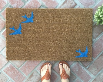 Bird Doormat / Summer Doormat / Cute Doormat / Funny Welcome Mat / Custom Doormat / Modern Doormat / Personalized Doormat / Housewarming Mat