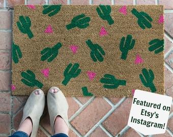 Cactus Plant Doormat / Cactus Decor / Succulent Gift / Custom Doormat / Front Door Mat / Summer Doormat / Modern Doormat / Snake Plant