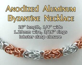 Byzantine Striped Necklace and Bracelet