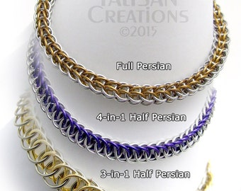 Persian Chainmail Bracelets in Assorted Colors and Weaves