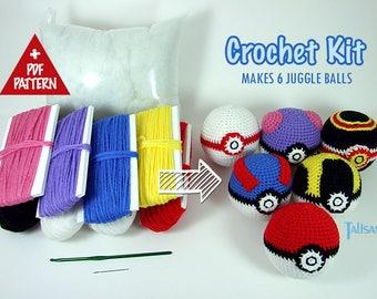 Crochet Kit Pokeballs SAVE 25+! Poke Ball, Great Ball, Ultra Ball, Master Ball, Premier Ball, Luxury Ball
