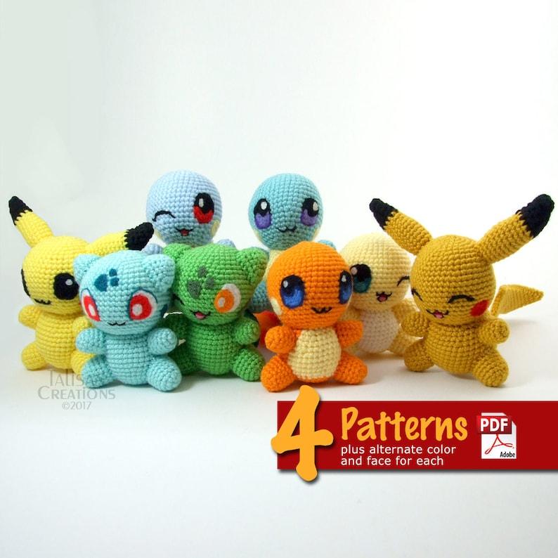 Crochet Chibis: Set 1 Pattern Book  Pokemon inspired animals image 0