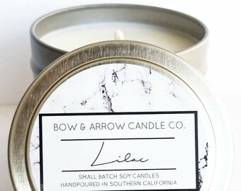 4 oz Natural Soy Candle Lilac Scented | 4 oz Tin Candle | Floral Scented | Lilac Candle | Spring Candle | Scented Soy Candle | Gift Idea