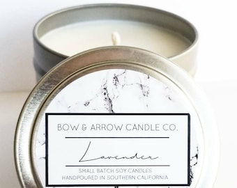 4 oz Natural Soy Candle Lavender Scented | 4 oz Tin Candle | Floral Candle | Lavender Scented | Lavender Soy Candle | Scented Soy Candle