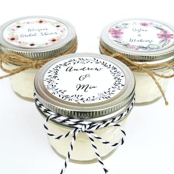 Wedding Favor Candles Mason Jar Favors Rustic Favors Etsy
