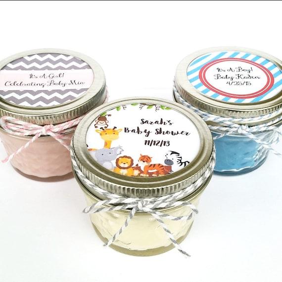 50 Baby Shower Favor Candles Mason Jar Favors Rustic Etsy