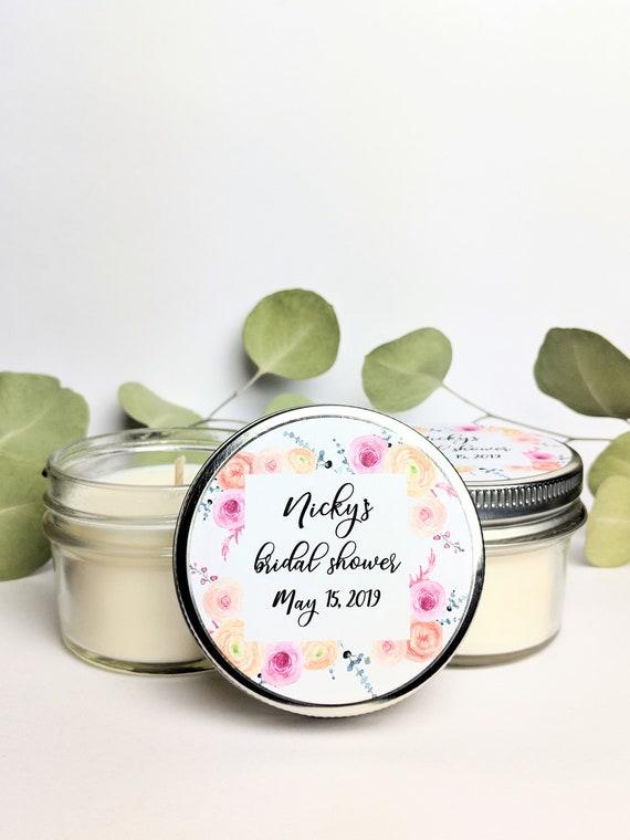 Set Of 50 Mason Jar Bridal Shower Favors Floral Wedding Etsy