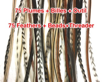light feather colours perfect for Blond hair Feather extension Blondy Fairy Hair Feather extension kit of 5 natural bonded feathers