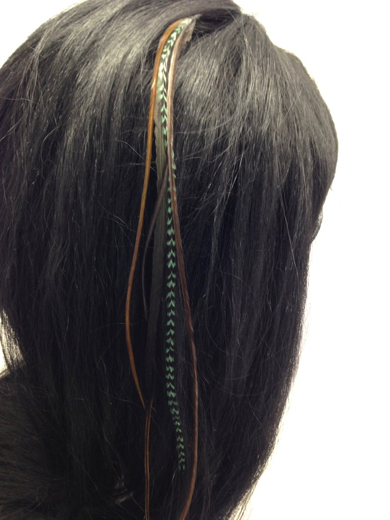 Long wide Feather extension  DIY feather Kit  Hair beads threader OR Hair clip  Premium rooster feathers  Fairy Feathers Pocahontas