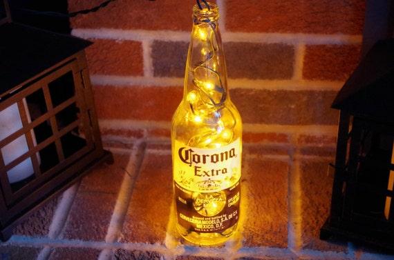 Blue Bilb Corona Light Beer Bottle Table Lamp Decoration-Novelty Lamp