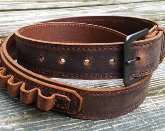 Full Grain Leather Cartridge  Belts