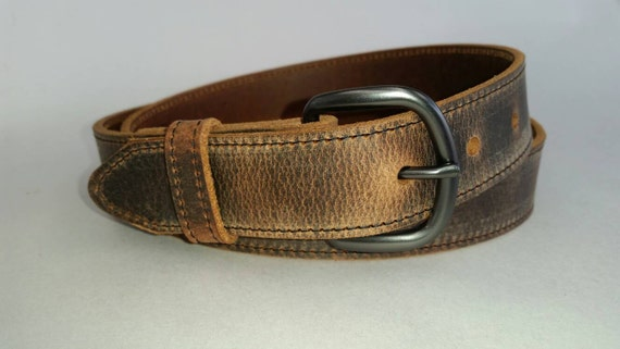 """Dark Brown BELT 1-1//2/""""  and  1-1//4/""""  Wide WATER  BUFFALO  LEATHER"""