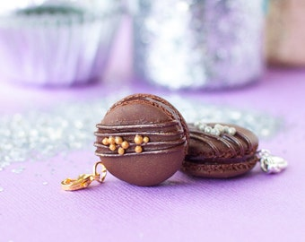 Triple Chocolate French Macaron Charm