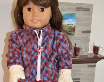 "Purple Snowsuit 6pc Outfit Fits Wellie Wishers 14.5/"" American Girl Clothes"
