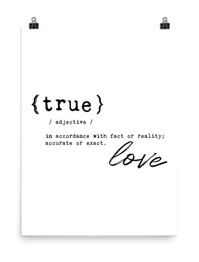 Love PRINTABLE Bedroom Quote, True Love Definition Print, Love Printable  Love Wall Art Bedroom Print, Love Quote Poster