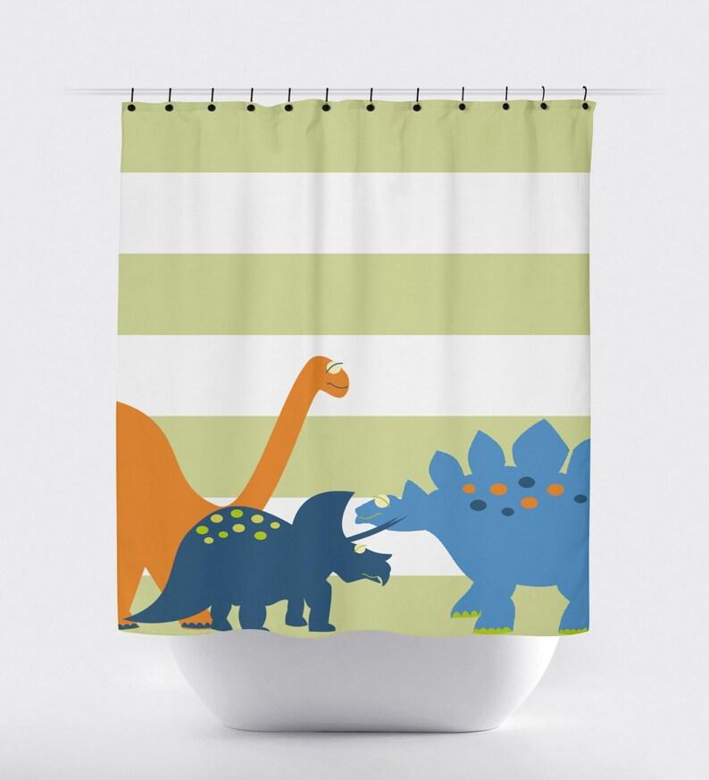 Shower Curtain Dinosaur Kids B