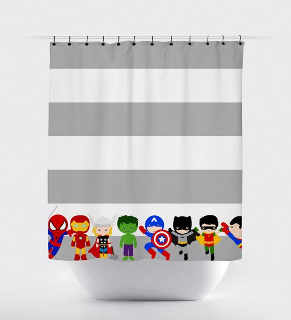 Superhero Shower Curtains Curtain Fabric