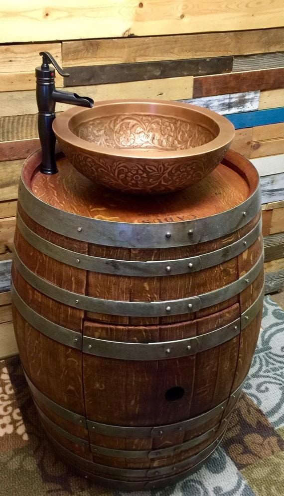 R serve sp ciale tonneau de vin vanit de salle de bain avec etsy - Lingerie salle de bain ...
