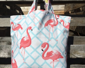 Pink Flamingo Market Tote