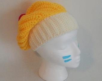 SALE Crochet Slouchy Lemon Cupcake Hat