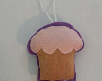 Pink Vanilla Cupcake Ornament