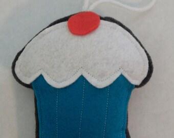 Cherry Vanilla Cupcake Ornament