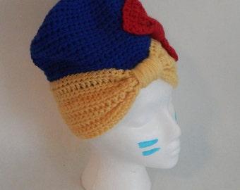 SALE Snow White Inspired Crochet Winter Hat