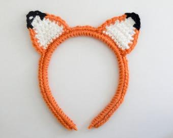 Fox Ear Chrochet Headband