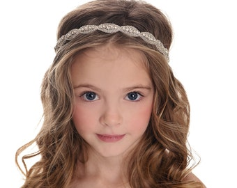 Rhinestone bridal headband, wedding headband, Flower Girl Headband, crystal headband, bohemian bridal headband, Baby headbands,Baby headband