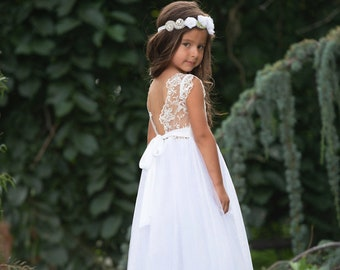 02e81f9b896 Bohemian flower girl dress