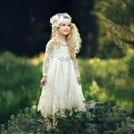 flower girl dress, girl lace dress, country lace dress, ivory lace dress,Rustic flower girl dress,long sleeve lace dress,Flower girl dresses
