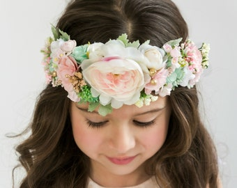 14a632e8e85 Blush Pink Flower Crown