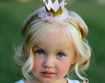 Gold baby crown headband- crown headband - baby headband- Gold princess  crown- infant crown headband - newborn crown glitter crown 604dad11038