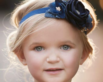 Ivory Headband Baby Headbands Baby Girl Gift Baby Girl Headband Maroon Headband Navy Blue Headband Baby Gifts Christmas Headbands