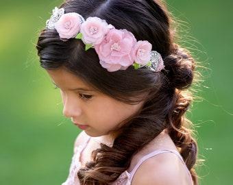 3ea2bbfddbe4 Flower girl headband