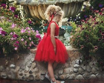 more colors red flower girls dress flower - Girls Red Christmas Dress