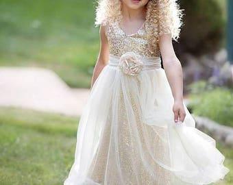 Rustic Wedding Flower Girl Dress