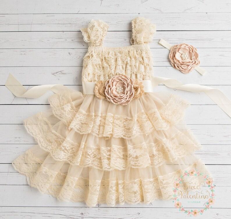 68eb1f0dcb27c Rustic flower girl dress junior bridesmaid dress country | Etsy