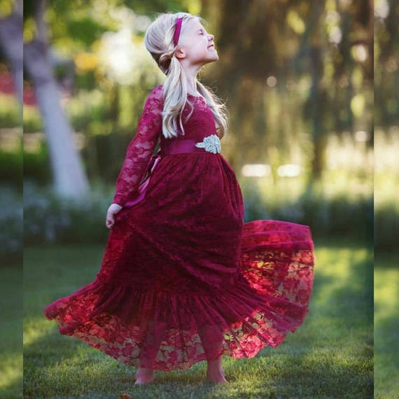 Burgundy Flower Girl Dresses